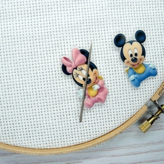 Interchangeable Baby Mickey and Minnie Magnetic Needle Minder, Needle Nanny, Cro