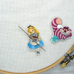 Interchangeable Alice Magnetic Needle Minder, Needle Nanny, Cross Stitch, Embroi