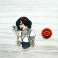 Rebel Princess: Snow White Magnetic Needle Minder, Needle Nanny, Cross Stitch, E
