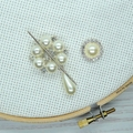Diamonds and Pearls Magnetic Needle Minder, Needle Nanny, Cross Stitch, Embroide