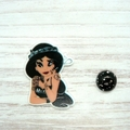 Rebel Princess: Jasmine Magnetic Needle Minder, Needle Nanny, Cross Stitch, Embr