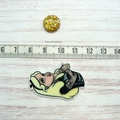 Rebel Alice Magnetic Needle Minder, Needle Nanny, Cross Stitch, Embroidery, Quil