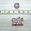 Cute As A Button Needle Minder: Sewing Machine- Polka Dots, Magnetic Needle Mind