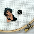 Rebel Princess: Jasmine Magnetic Needle Minder, Needle Nanny, Cross Stitch, Embr