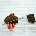 Chocolate Cupcake  Magnetic Needle Minder, Needle Nanny, Cross Stitch, Embroider