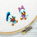 Interchangeable Baby Donald and Daisy Magnetic Needle Minder, Needle Nanny, Cros