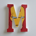 Name Plaque for Wall or Door. 15cm Super Hero Theme. 7 letters