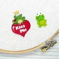 Prince Charming Frog Magnetic Needle Minder, Needle Nanny, Cross Stitch, Embroid