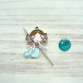 Cute As A Button Needle Minder: Mermaid, Magnetic Needle Minder, Needle Nanny, C