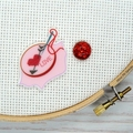 Embroidery Hoop : Love Magnetic Needle Minder, Needle Nanny, Cross Stitch, Embro
