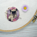 Pug Puppy Magnetic Needle Minder, Needle Nanny, Cross Stitch, Embroidery, Quilti