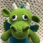 Dragon: FREE POSTAGE, Ready to Post, Crochet Toy, Boy Gift, Girl Gift