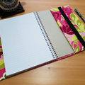 Botanique Berry A5 Notebook Cover with Elastic Closure