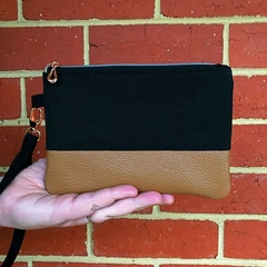 Black - Regular Wristlet with leather accent