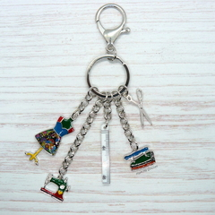 Sewing Key Ring, Key Chain, Sewing Accessories, Seamstress, Sewist , Gift