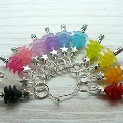 Rainbow Christmas Tree Stitch/ Crochet Markers, Stitch Markers, Crochet Markers,