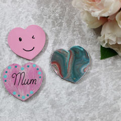 Set of 3 Heart Magnets