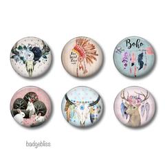 Boho fridge magnets set of 6