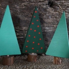 Wooden tree set