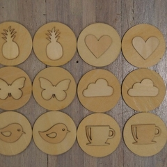 Toddler Wooden memory match game 4