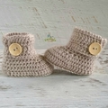 Fawn Crochet Baby Booties Pregnancy Announcement Baby Reveal