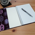 Serafina A5 Journal Cover with Elastic Closure