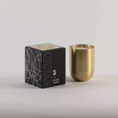 French Vanilla- Brass Natural Soy Candle