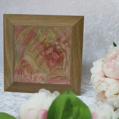 Pink and Green LidSpotted Gum Box