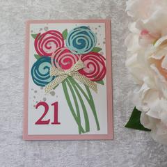 Girl's 21st Birthday Card
