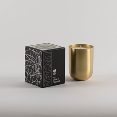 Lime & Coconut-Brass Natural Soy Candle