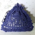 Purple Hand Crocheted Lavender Bag with Complementary Embellishments