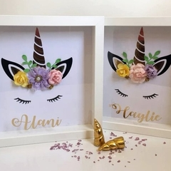 Unicorn 3D personalised shadow box