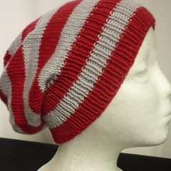 Unisex adult hand knit slouchy/beanie 100% Cotton 1c