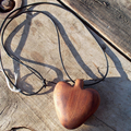Rounded spear head pendant, hand tooled from reclaimed Canadian Cedar ON SALE!!!