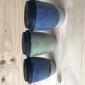 Handmade stoneware travel cups