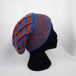 Bright loose back winter hat, 100% machine washable Australian wool