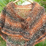 shoulder or hip wrap in mohair blend yarn with fibre brooch.  ON SALE!!!