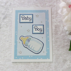 Blue Baby Boy Card