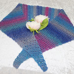 Blue and Purple Blend Triangular Scarf