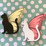 Butterfly Cat Brooch