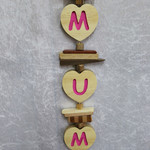 Pink Mum Hanging Love Heart