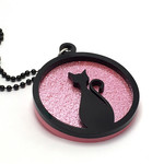 Black Cat Layered Pendant Necklace