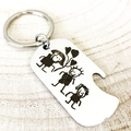 Childrens Drawing Keyring, Actual Drawing on Jewellery, Personalised Keyring