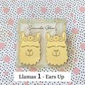Llama Earrings - Gold Mirror Acrylic