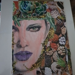 original garden queen collage//unframed''.