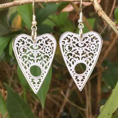 Ouija Planchette earrings - clear acrylic