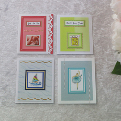 Set of 4 Gift Cards Boy/ Girl/  Unisex  Birthday/ Any Occasion