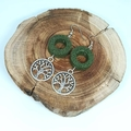 Lava Stone Diffuser Earrings with Tree of Life Charm - Free Aus Postage