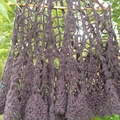 spider web shawl made from mohair blend yarn free size crochet lace.