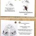 Native Australian Kookaburra Scarf